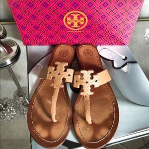 Tory Burch Moore Flat Thong Sandals Size 8.5